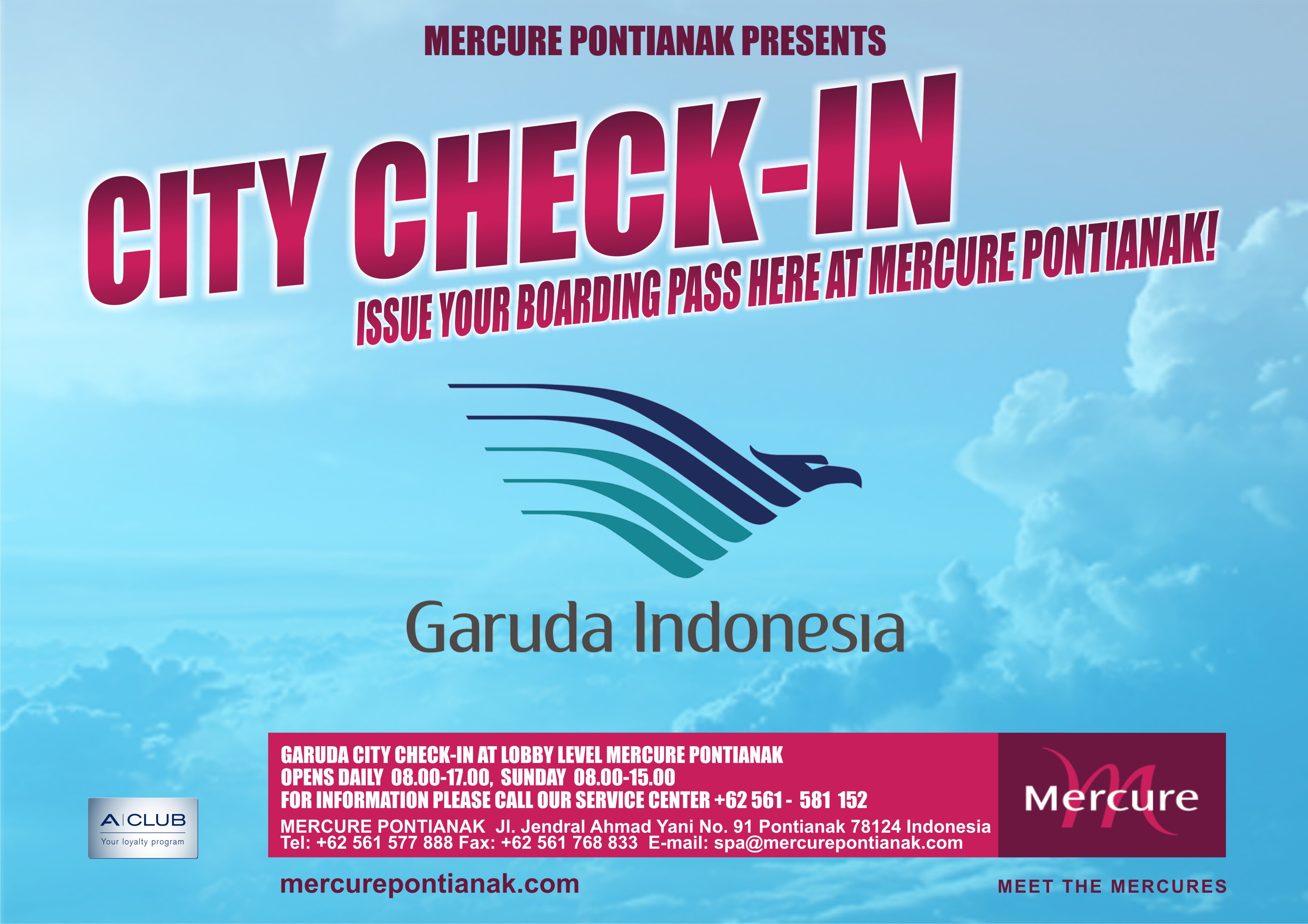 Mercure Pontianak Garuda Indonesia Airlines Service Counter Now